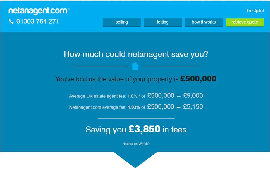 Compare estate agents' services and fees, instantly.